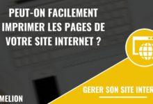 Imprimer les pages de votre site internet facilement