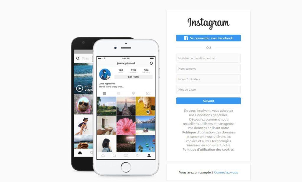 Réseau social Instagram