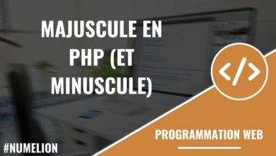 Majuscule en PHP (et minuscule)