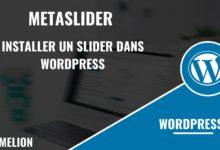 MetaSlider pour installer un slider dans WordPress