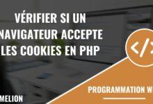 Vérifier si un navigateur accepte les cookies en PHP