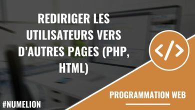 Rediriger les utilisateurs vers d'autres pages en PHP et HTML