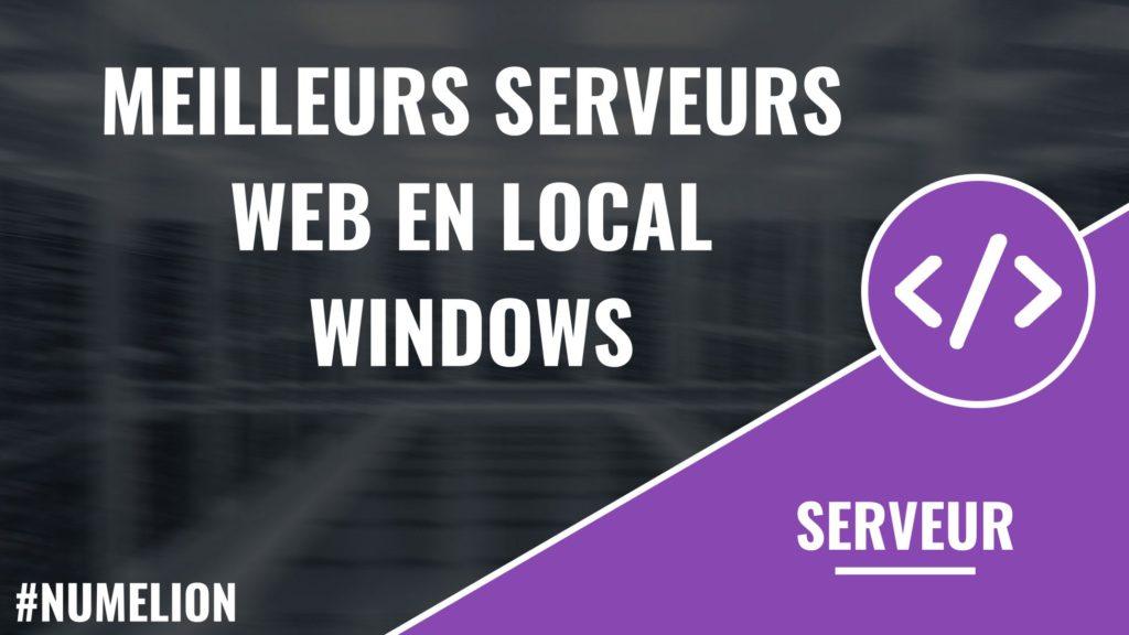 Meilleurs serveurs web en local pour Windows