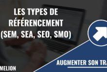 Différents types de référencement (SEM, SEA, SEO, SMO)