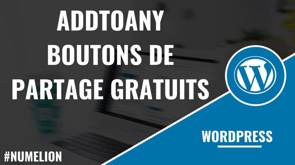 AddToAny – Installer des boutons de partage gratuits