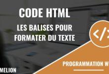Code HTML pour vos articles dans les éditeurs de texte