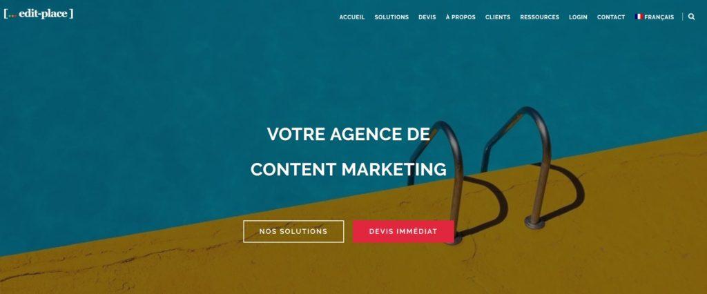 Edit-Place une agence et plateforme de rédaction web