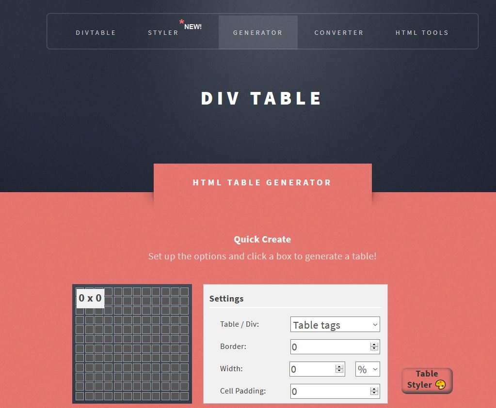 Générateur de tableau HTML en ligne