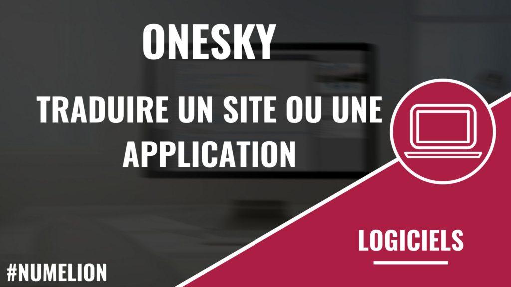 OneSky - Traduction de sites internet ou d'applications