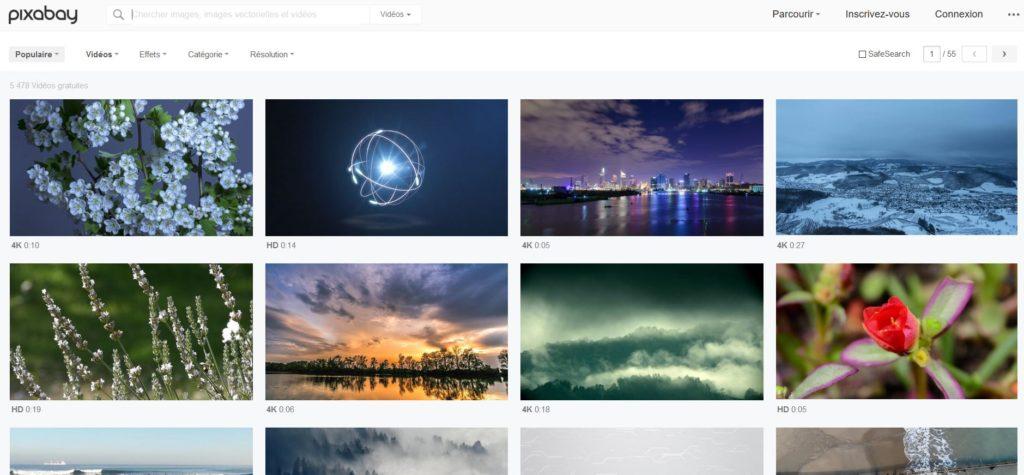 Pixabay - Une des principales banques de vidéo gratuites et libres de droits