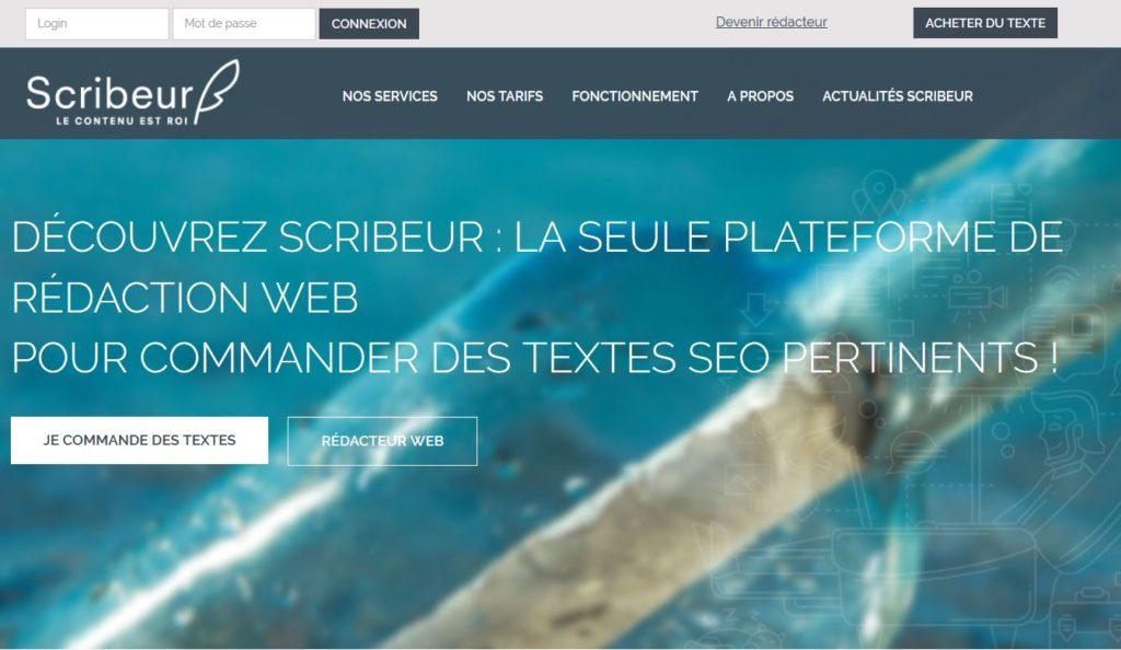 Scribeur - Plateforme de rédaction web orientée SEO