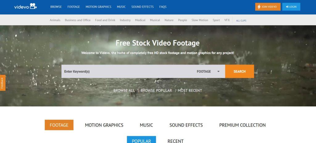 Videvo - Trouver des clips vidéos gratuites