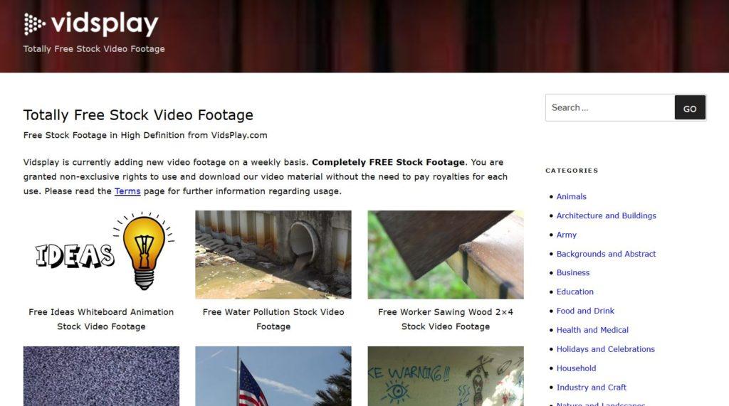 Vidsplay - Trouver des vidéos libres de droits
