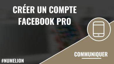 Créer un compte Facebook Pro