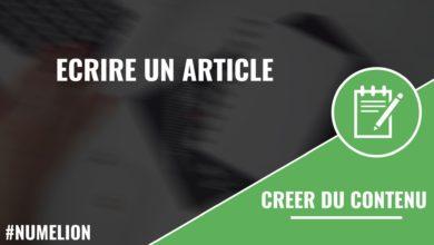 Écrire un article (blog, site, rédaction...)