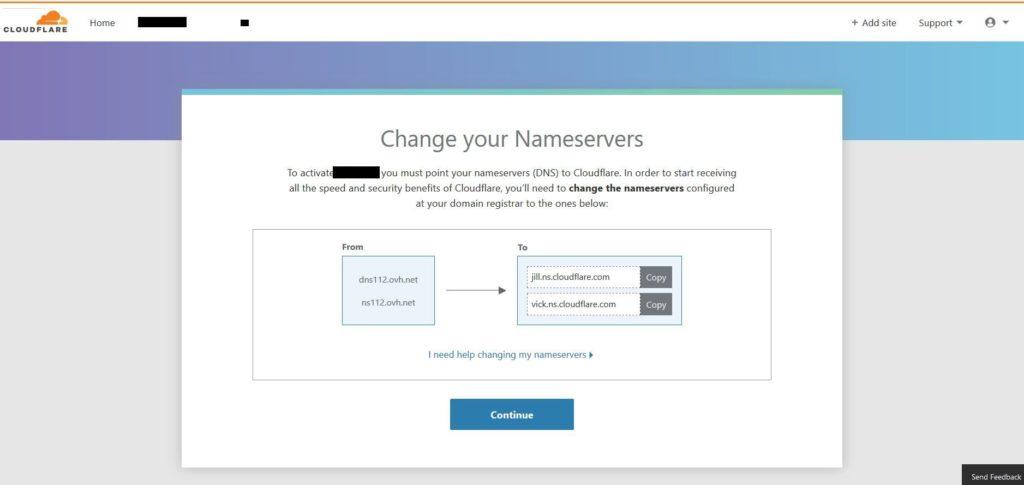 Serveur DNS Cloudfare