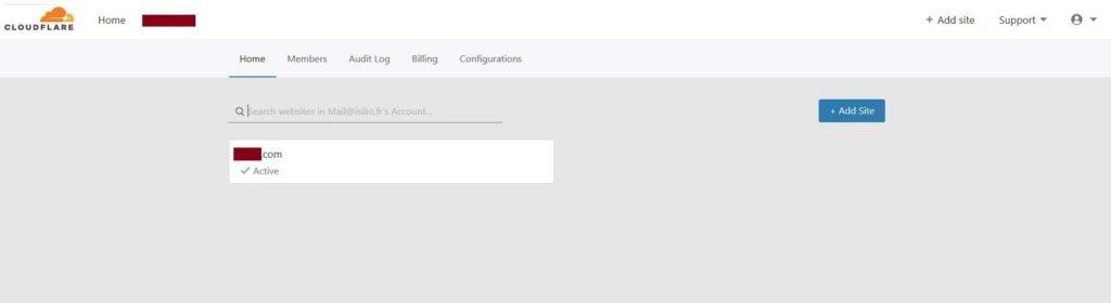 Vérification avec Cloudfare