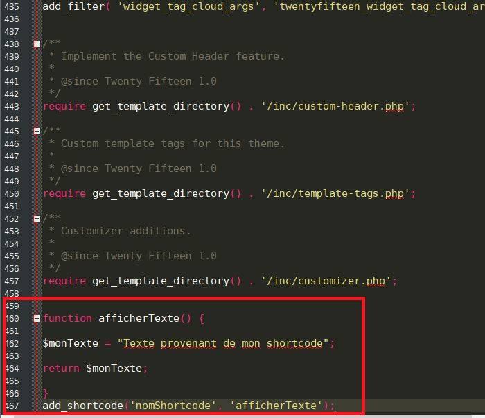 """Code dans le fichier """"function.php"""""""