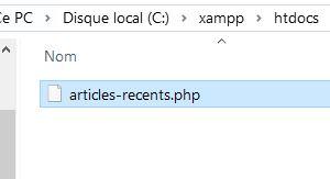 Création du fichier PHP