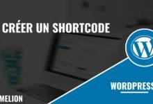 Créer un shortcode
