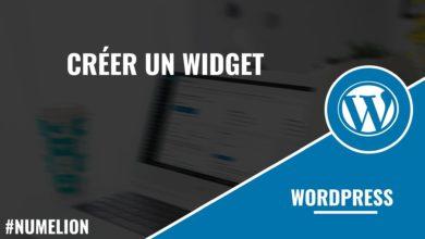 Créer un widget WordPress
