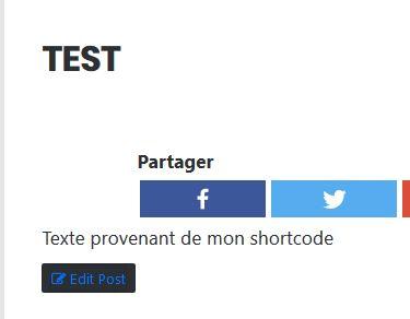 Test pour créer un shortcode