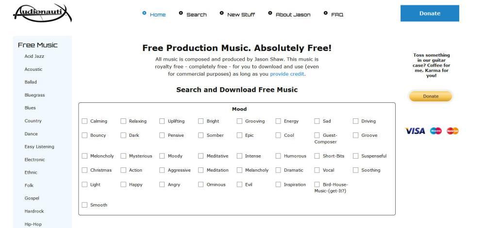 Audionautix - Rechercher un musique gratuite pour l'utilisation commerciale