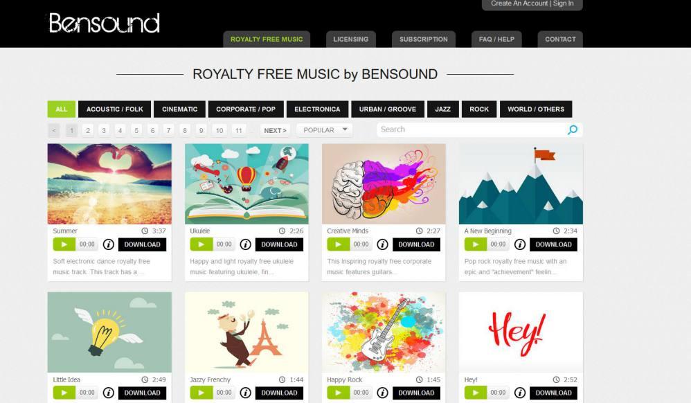 Bensound - Musique en ligne