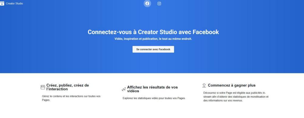 Facebook Creator Studio pour utiliser des musiques sur Facebook et Instagram
