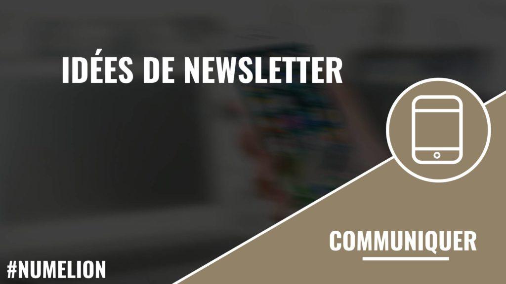Idée de newsletter