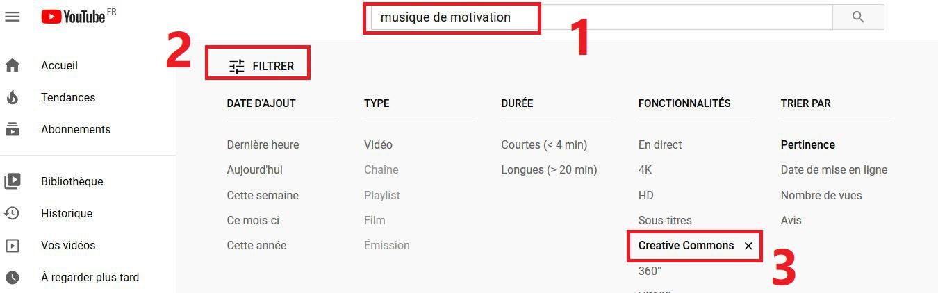 YouTube - Utiliser des musiques libres de droits et gratuites