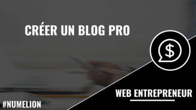 Créer un blog Pro
