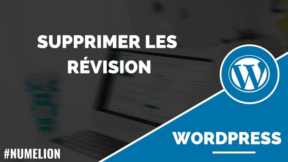 Supprimer les révisions de la base de données WordPress