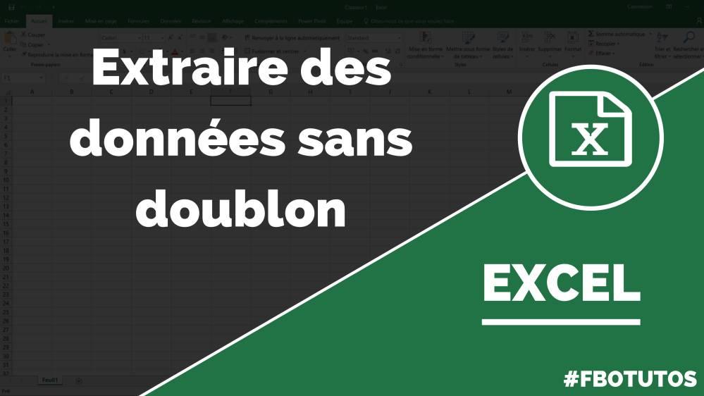 Extraire des données sans doublon dans Excel