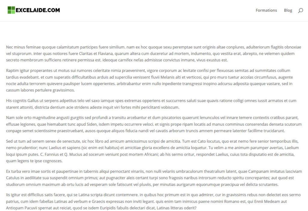 Affichage de la page d'accueil