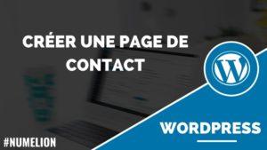 Créer une page de contact dans WordPress