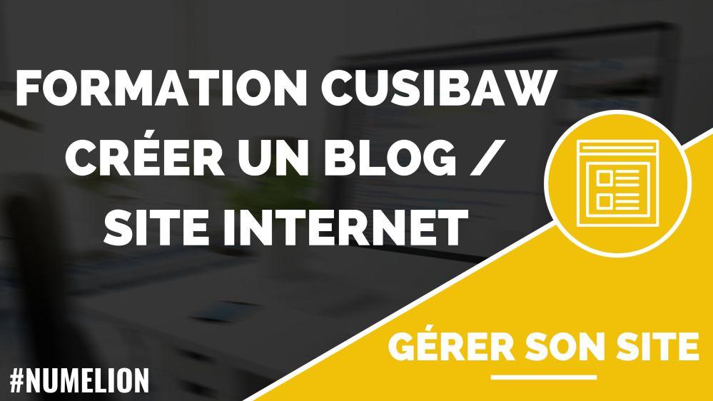 Formation CUSIBAW - Formation gratuite pour créer un site internet / blog