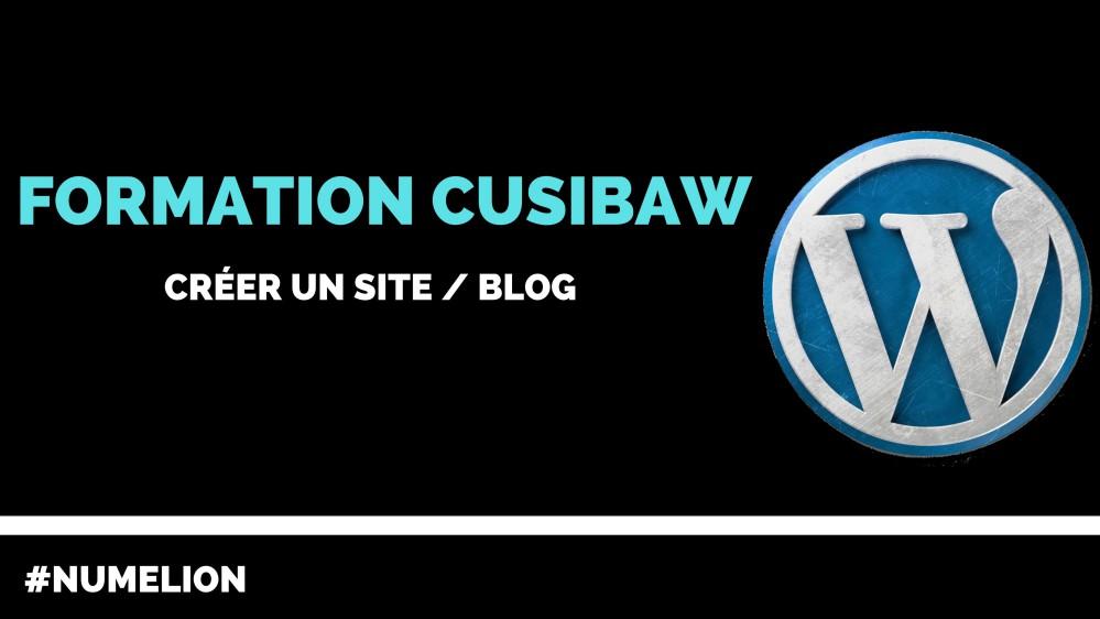 Formation CUSIBAW - Créer un site internet / blog