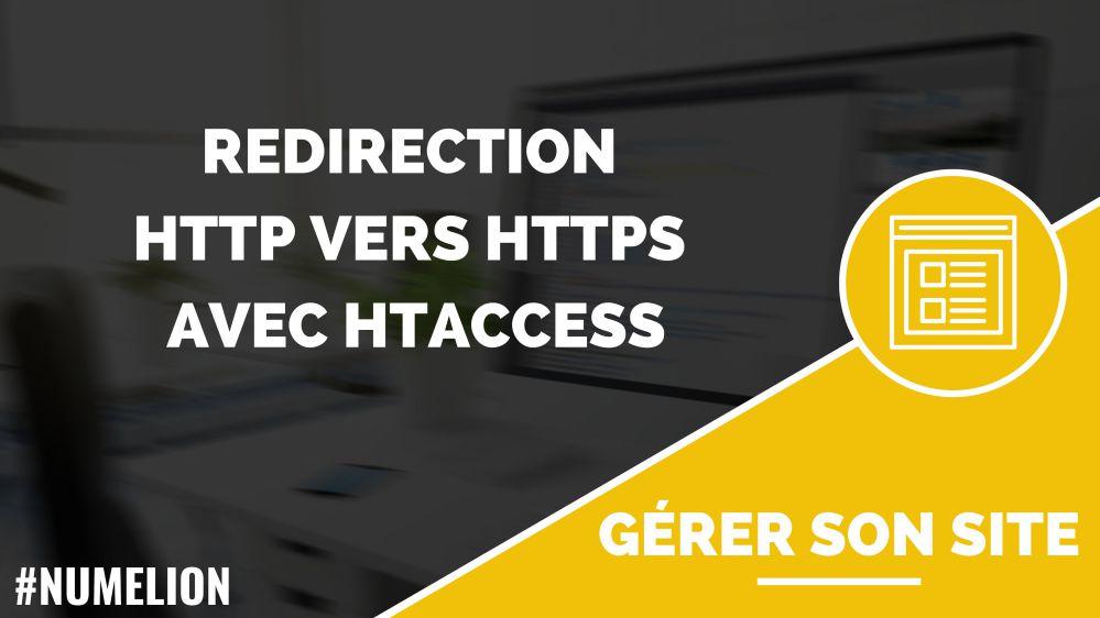 Redirection HTTP vers HTTPS avec htaccess