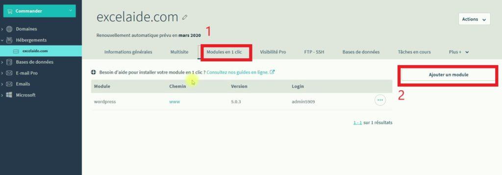 Installer WordPress sur un sous-domaine
