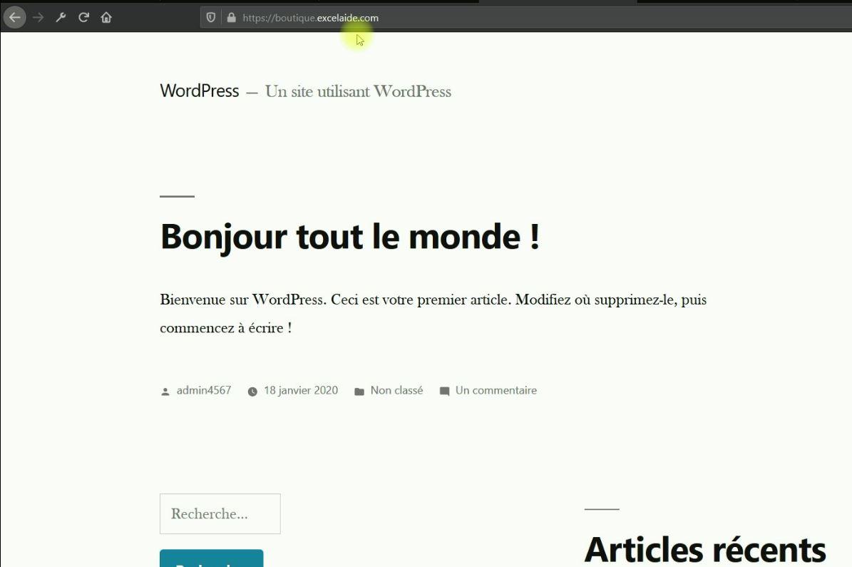 WordPress sur un sous-domaine OVH