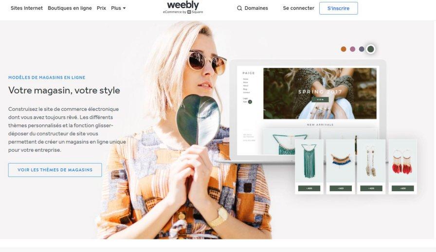 Créer une boutique en ligne avec Weebly