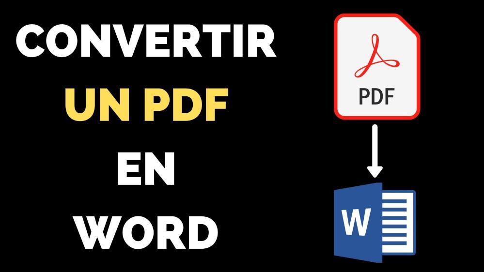 Comment convertir un PDF en Word ?