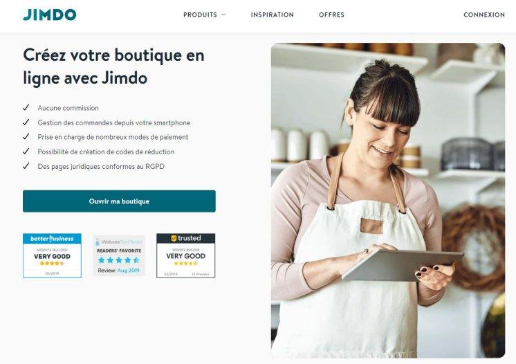 Créer une e-boutique avec Jimdo
