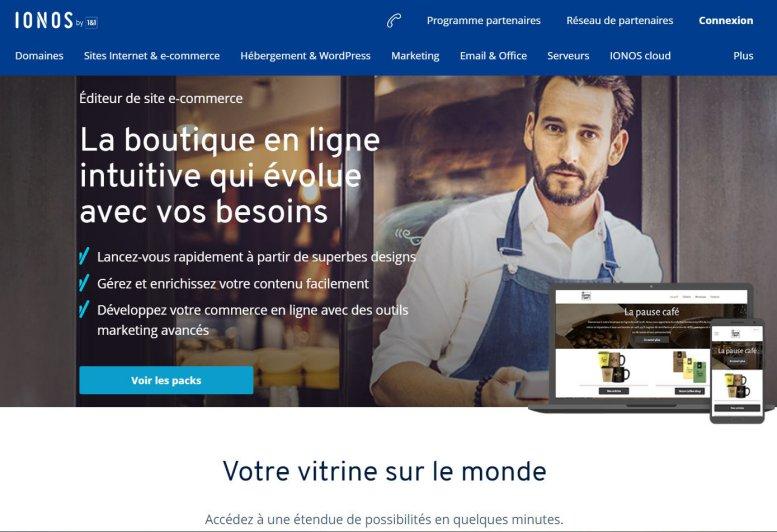Lancer un e-commerce avec Ionos 1 & 1