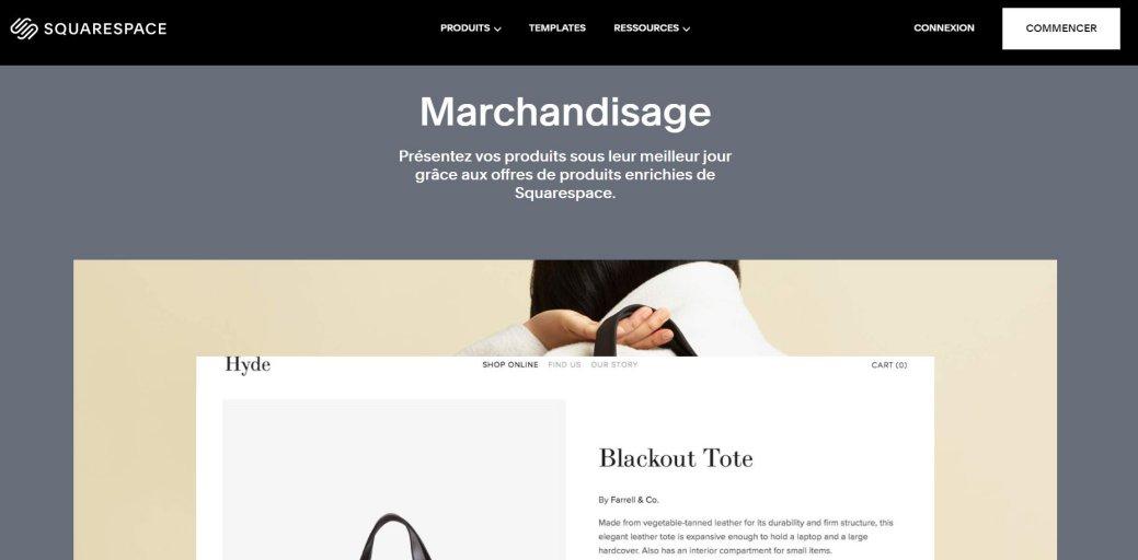 Créer un e-commerce avec SquareSpace
