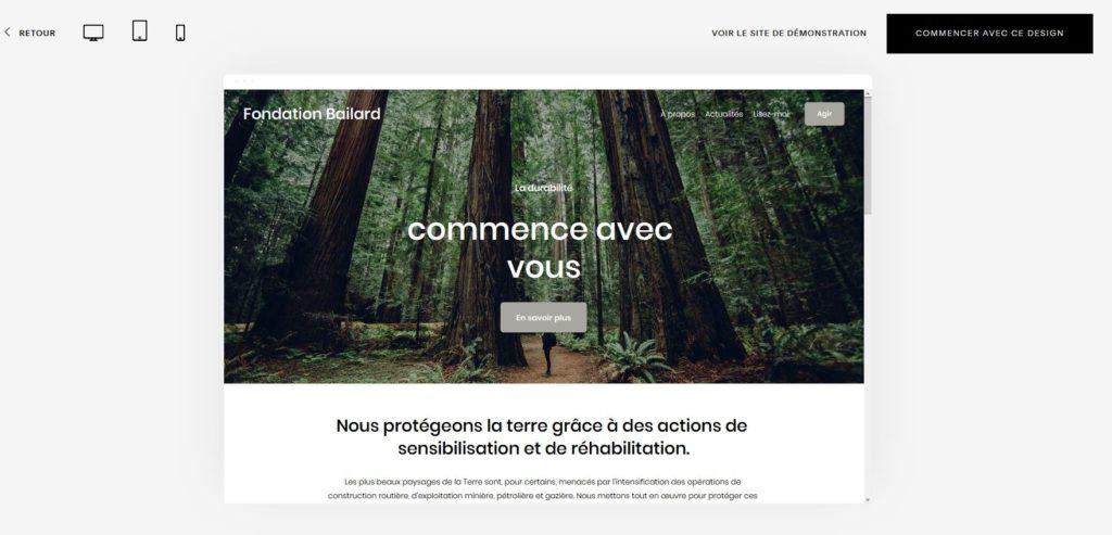 Créer un site avec l'application SquareSpace