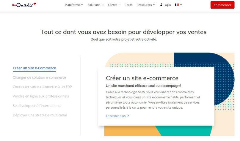 Créer un site e-commerce avec Oxatis
