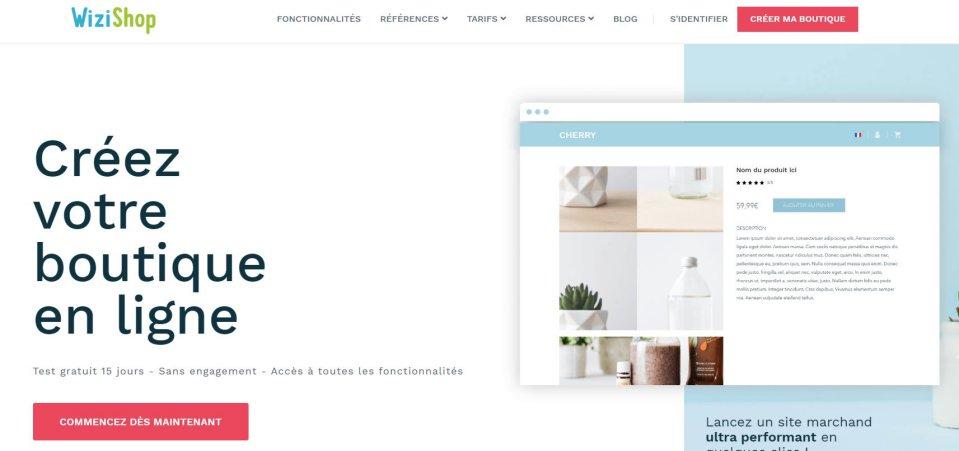 Créer un site de vente en ligne avec Wizishop